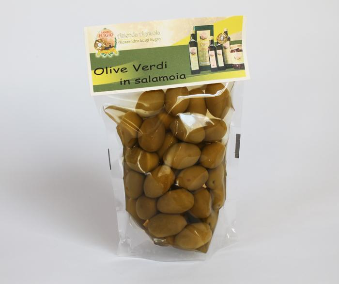Olive verdi in salamoia 250 gr