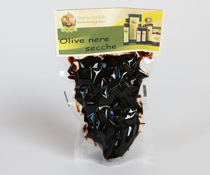 Olive nere secche 250 gr