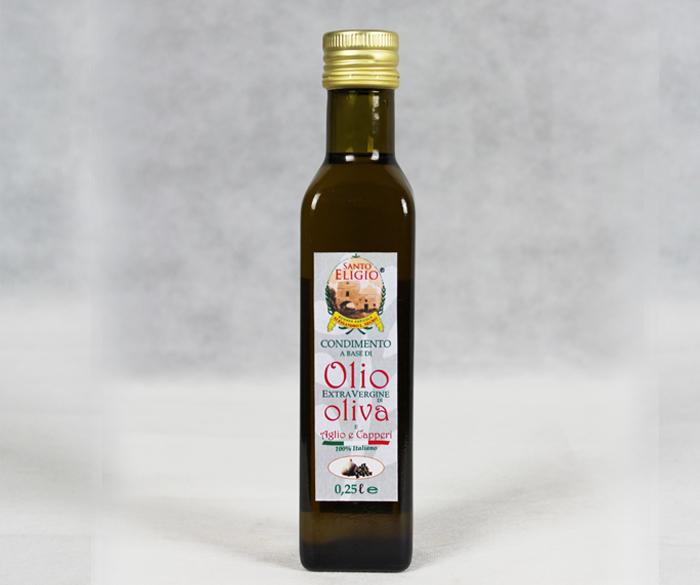 Olio di oliva aglio e capperi da 0,25 lt