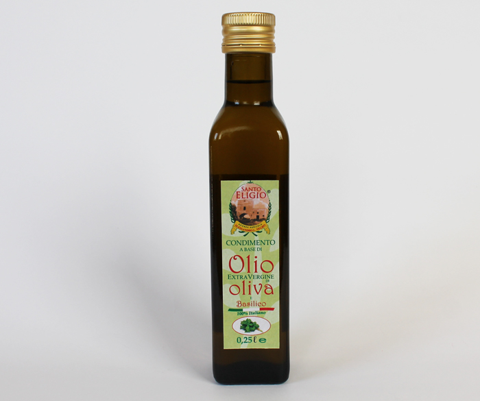 Olio al basilico da 0,25 lt